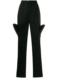 Y Project Oversized Pocket Straight Trousers Black