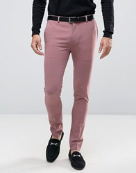 Asos Extreme Super Skinny Smart Trousers In Pink Canyon Rose