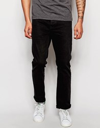 Asos Relaxed Jeans In Black Black