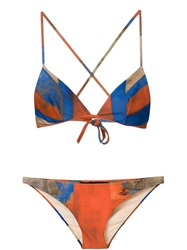 Vivienne Westwood Anglomania 'Eve' Bikini Yellow And Orange