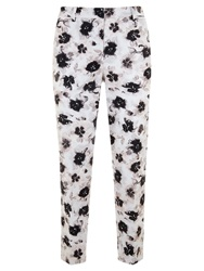 Mint Velvet Esma Print Cotton Blend Capri Trousers Multi