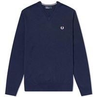 Fred Perry Authentic Classic V Neck Knit Blue