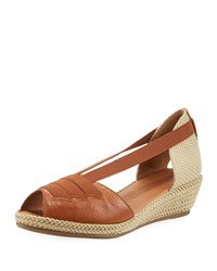 Gentle Souls Luci Espadrille Leather Sandals Cognac