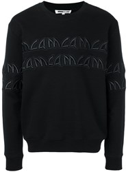 Mcq By Alexander Mcqueen Logo Embroidered Sweatshirt Black