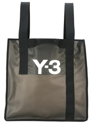 Y 3 Logo Beach Bag Black