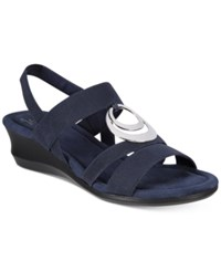 Impo Geanna Wedge Sandals Women's Shoes Navy