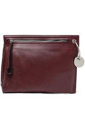 Marc By Marc Jacobs Embellished Leather Pouch Burgundy