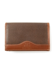 Courreges Vintage Contrast Trim Wallet Brown