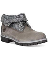 Timberland Rolltop Plaid Wheat Boots Men's Shoes