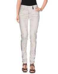 High Denim Denim Trousers Women Ivory