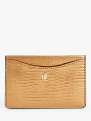 Ralph Lauren Elmswood Leather Card Holder Gold