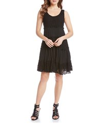 Karen Kane Tara Tiered Lace Scoopback Dress Black