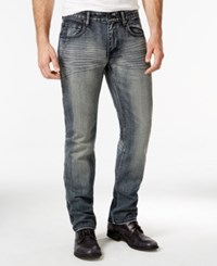 Inc International Concepts Halsey Slim Fit Dark Blue Wash Jeans Only At Macy's Dark Wash