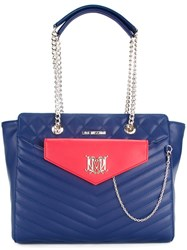 Love Moschino Pouch Detail Shoulder Bag Blue