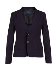 Yohji Yamamoto Regulation Notch Lapel Bow Back Cotton Jacket Indigo