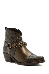 Summit By White Mountain Amberlie Embossed Genuine Leather Western Boot Metallic