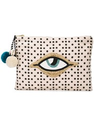 Figue Soma Printed Clutch Neutrals