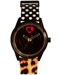 Harajuku Lovers Unisex Animal Print Designed By Gwen Stefani Printed Strap Watch 40Mm Hl2614 Black