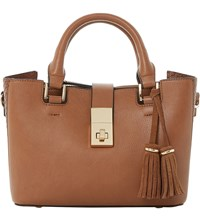 Dune Divinie Tassel Detail Leather Tote Tan Synthetic