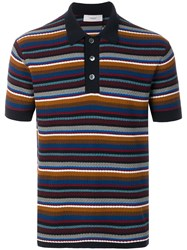 Pringle Of Scotland Knitted Stripe Polo Shirt Multicolour