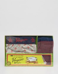 Original Penguin Trunk And Sock Gift Set Multi