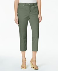 Charter Club Bristol Capri Jeans Created For Macy's Sage Green