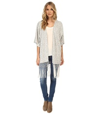 Tart Holly Wrap Grey Ikat Women's Blouse Gold