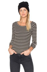 Project Social T Picadilly Striped Tee Army