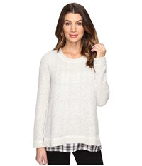 Sanctuary The One N' Done Sweater Winter White Maxwell Plaid Women's Sweater