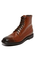 To Boot Neils Leather Cap Toe Boots Cognac