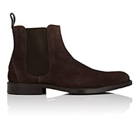 Barneys New York Men's Plain Toe Chelsea Boots Brown