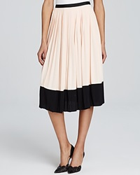 Kate Spade New York Color Block Pleat Midi Skirt Shell