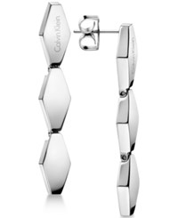 Calvin Klein Women's Snake Stainless Steel Drop Earrings Kj5dme000100 Silver