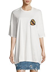 Public School Lilith Jersey Cotton Patch Tee White