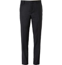 Jil Sander Slim Fit Wool And Cashmere Blend Trousers Blue