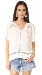 Somedays Lovin Sun Sway Crochet Blouse Cream