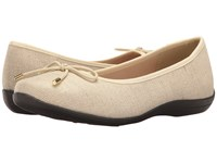 Soft Style Heartbreaker Natural Sparkle Linen Women's Flat Shoes Beige
