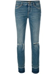 Dolce And Gabbana Slim Fit Jeans Women Cotton Spandex Elastane 42 Blue