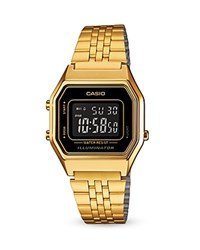 Casio Vintage Digital Watch 33.5Mm X 28.6Mm Black Gold