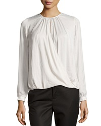 Vince Cross Front Draped Blouse Ivory