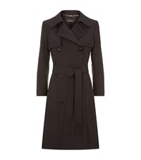 Escada Maxime Embroidered Trench Coat Female Black