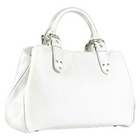Fontanelli Soft Calf Leather Satchel Bag Snow White
