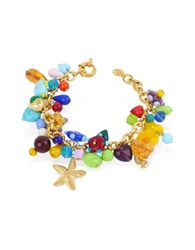 Antica Murrina Veneziana Marilena Murano Glass Marine Gold Plated Bracelet Multicolor