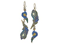 Betsey Johnson Peacock Non Matching Drop Earrings Multi Earring