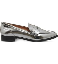 Office Vibe Pointed Toe Loafers Gun Metal Silver