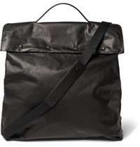 Maison Martin Margiela Washed Leather Tote Bag Black
