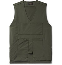 Beams Plus Shell Gilet Army Green