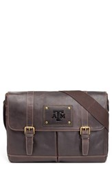 Men's Jack Mason Brand 'Gridiron Texas A And M Aggies' Leather Messenger Bag