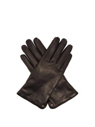 Gucci Bee Motif Leather Gloves Black