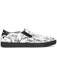 Dolce And Gabbana London Slip On Sneakers White